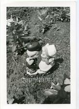 Kissing Garden Ornaments Statues Horse-Fly Vintage Abstract Still Life Photo