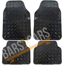 4 x Black  Carpet Floor Mats with Pink Trim fits Hyundai i10 i20 i30 i40 Atos