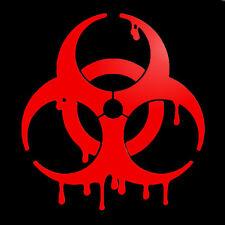 Bloody Biohazard Zombie dripping blood Car Decal Sticker 100mm Car decal sticker