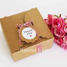 10x Kraft Large Boxes - Cupcake Macaron Wedding Bomboniere Baby Shower Favour