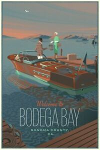 Laurent Durieux Bodega Bay Regular Print Poster Birds Jaws Hitchcock xx/450