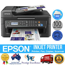 4in1 Inkjet Printer Epson Workforce Wireless USB Scanner Copier Fax MFC WF-2630
