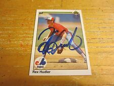 Rex Hudler Autographed Signed 1990 Upper Deck #411 Card MLB Montreal Expos