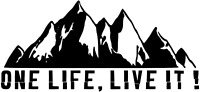 ONE LIFE LIVE IT. Car/Van/ caravan/ boat Window Sticker  2ft x 1ft decal