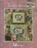 Just Nan Lady's Wreath Kit Started with Chart Instructions Fabric Floss & Charm