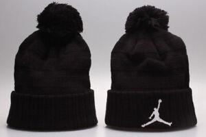 Jordan Jumpman Winter Knit Beanie Cuffed POM Adult Unisex Hat New Style - Black