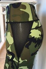 Camouflage Mesh Fitness Women's Leggings Yoga Workout Skinny Military Print Camo