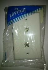 Leviton white Phone cable Jack Wall Plate Telephone type 625D 4 conductor w/f