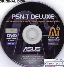 ASUS GENUINE VINTAGE ORIGINAL DISK FOR P5N-T Deluxe Motherboard  Disk M1317