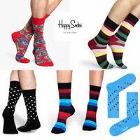 Happy Socks Unisex Mens UK 7 - 11 Designer Crew Length Fancy Dress Fashion Socks