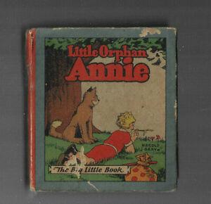 VINTAGE BIG LITTLE BOOK LITTLE ORPHAN ANNIE 1928  Harold Gray Whitman Co