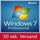 Windows 7 Professional 32-64 Bit SP1 Deutsch OEM Vollversion Win 7 Pro Lizenz