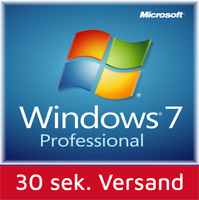 Windows 7 Professional 32-64 Bit SP1 Deutsch OEM Vollversion Win 7 Pro Schlüssel