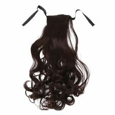 Synthetic False Hair Ponytails Pad Pony Tail Curlypcs Long Wavy Clip in WRA E5a1