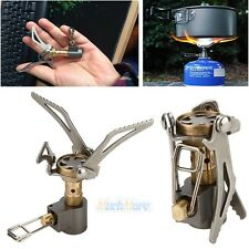 Outdoor Camping Hiking Titanium Alloy Stove Gas Furnace Burner Picnic Cookout US