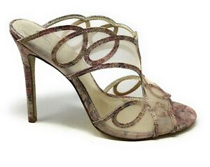 Adrianna Papell Womens Glam Dress Sandals Mule Gold Multi Size 8.5 M