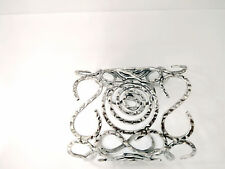 "Chunky 4 1/4""Wide Popular Swirl Style Silver Alloy Hammered Metal Cuff Bracelets"