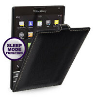 for BlackBerry Passport Genuine Leather Flip Case Cover (9 Color) Black Red Pink
