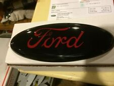 "2004-2014 Ford F150 BLACK & RED Tailgate or Grille emblem Ford Oval 9"" 3D, SHOW"