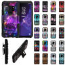 "For Samsung Galaxy S9 Plus 6.2"" Holster Hybrid Hard Rubber Silicone Case Cover"