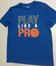 """Authentic Champion Boy Blue Active Dry fit Shirt """"Play like a Pro"""" size L"""