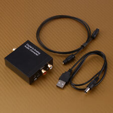 Optical Coaxial Toslink Digital Analog Audio Converter Adapter RCA L/R Stereo