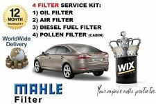 FOR FORD MONDEO 2.2TDCi 03/2008-->  SERVICE KIT OIL AIR FUEL POLLEN FILTER KIT