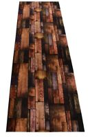Custom Size Nature Hardwood Brown Non Skid Rug Runner Cut to Size Runner Rugs