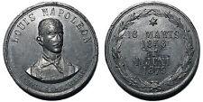 """Danemark mèdaille mort de Louis Napoléon """"16 Marts 1856 - 1 Juni 1879"""""""