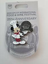 Disney Epcot Food And Wine 25th Anniversary Chef Mickey Pin Le 3500 New