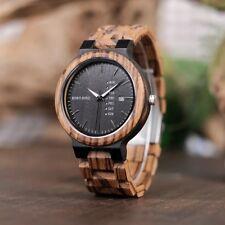 Wooden Case Mens Wooden Strap Wristwatches For Sale Ebay