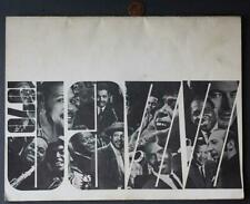 1970 Cincinnati,Ohio Valley Jazz Festival Program-Miles Davis & Roberta Flack!*