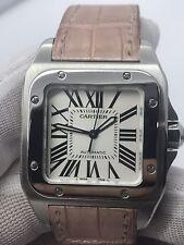 Cartier Santos 100 Midsize Steel Automatic Watch 2878 Unisex