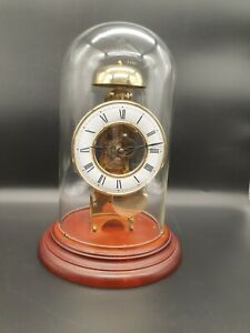 Franz Hermle Skeleton Mantel Clock Under Dome - Great Condition