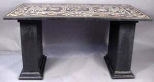 """48"""" x 24"""" Marble Table Top pietra dura semi precious stones With marble Stands"""