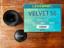 Lensbaby Velvet 56mm f1.6 Canon EF Fit