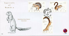 More details for namibia wild animals stamps 2020 fdc squirrels tree squirrel fauna 3v set