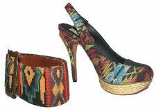 NAUGLTY MORBEY Platform Shoes 8M  plus matching wide Italian belt