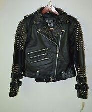 Killstar, Buckled Leather Jacket, Size XL, Black