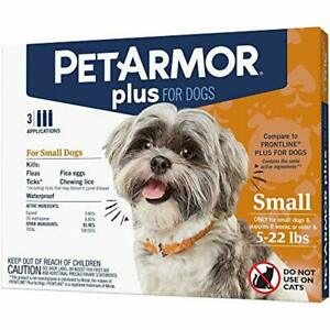 PetArmor Plus for Dogs, Flea and Tick Prevention for Small Dogs (5-22 Pounds), I
