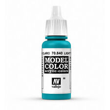 Vallejo Model Color: Light Turquoise - VAL70840 Acrylic Paint 17ml Bottle 068
