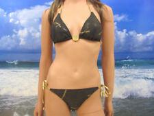 NWT $78 BABY PHAT glittery bikini swimsuit top & bottom SMALL #107