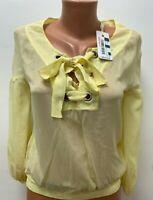 MISS SIXTY Gr.S 100%SEIDE Top Shirt Bluse Gelb