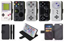 Diseño de controlador de juegos retro Estuche de Teléfono Abatible estilo Billetera iPhone Galaxy