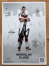 Miroslav Klose 1. AK DFB 2014 Autogrammkarte hinten original signiert