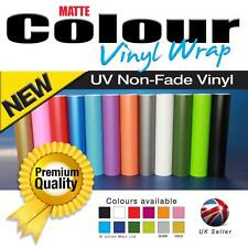 Matte/Matt Vinyl Car Wrap - Air Free - Self Adhesive - Various Colours & Sizes