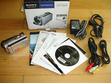 Sony DCR-SX44 4 GB Camcorder -  Silver 60X Optical Software Manual Box Av Cables
