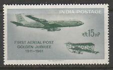1961 INDIA 15np ANNIV FIRST AIR POST SG 435 L/M/MINT
