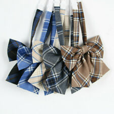 Girl Cute Neck Tie Check Plaid Japanese JK Uniform Lolita Bow Tie Cosplay Preppy