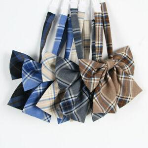 Cute Girl Neck Tie Check Plaid Japanese JK Uniform Lolita Bow Tie Cosplay Preppy